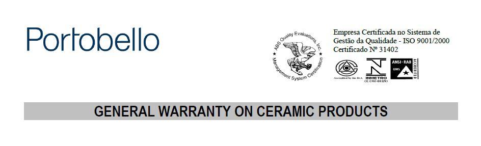 Termo de Garantia Geral Portobello